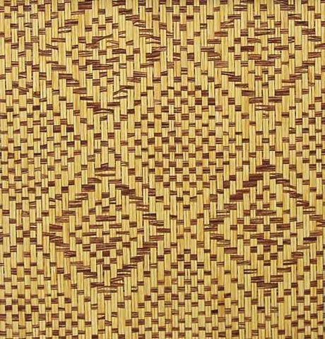 Diamond Paper Weave Wallpaper in Light Brown from the Winds of the Asian Pacific Collection by Burke Decor