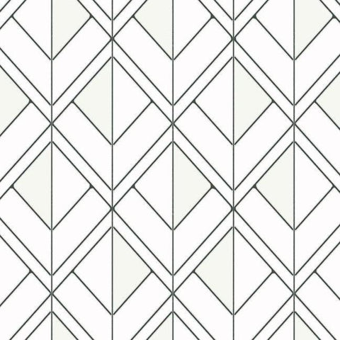 Black White Geometric Wallpaper Modern Geometric Pattern Wallpaper Burke Decor Burke Decor