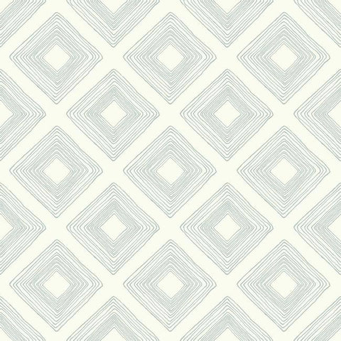 Diamond Sketch Wallpaper in Eggshell Blue from Magnolia Home Vol. 2 by Joanna Gaines