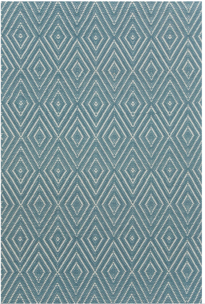 Diamond Slate & Light Blue Indoor/Outdoor Rug design by Dash & Albert