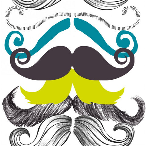 Different Mustaches Wallpaper in Black and Multi from the Eclectic Collection by Mind the Gap