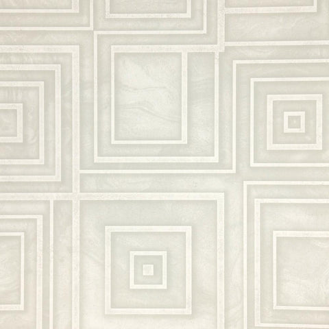 Dimensional Geometric Wallpaper in Grey from the Precious Elements Collection by Burke Decor