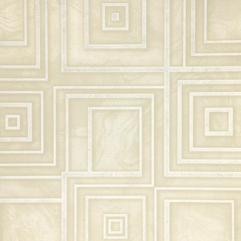 Dimensional Geometric Wallpaper in Soft Gold from the Precious Elements Collection by Burke Decor