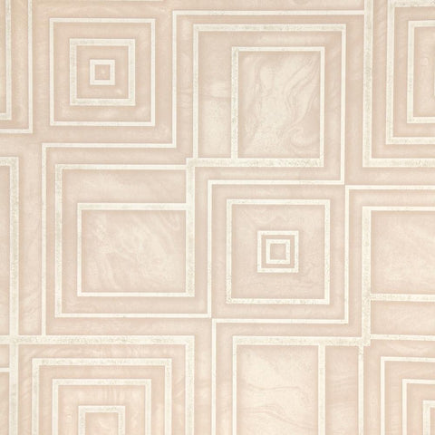 Dimensional Geometric Wallpaper in Soft Pink from the Precious Elements Collection by Burke Decor
