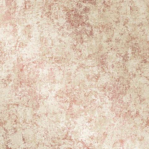 Distressed Gold Leaf Self-Adhesive Wallpaper in Rose Pink design by Tempaper