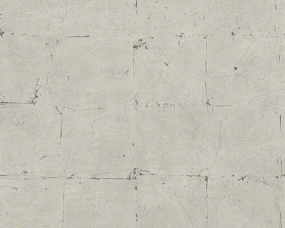 Distressed Tiles Wallpaper in Grey and Neutrals design by BD Wall
