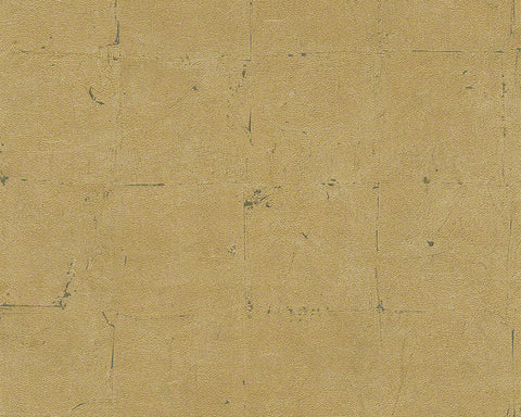 Distressed Tiles Wallpaper in Neutrals and Gold design by BD Wall