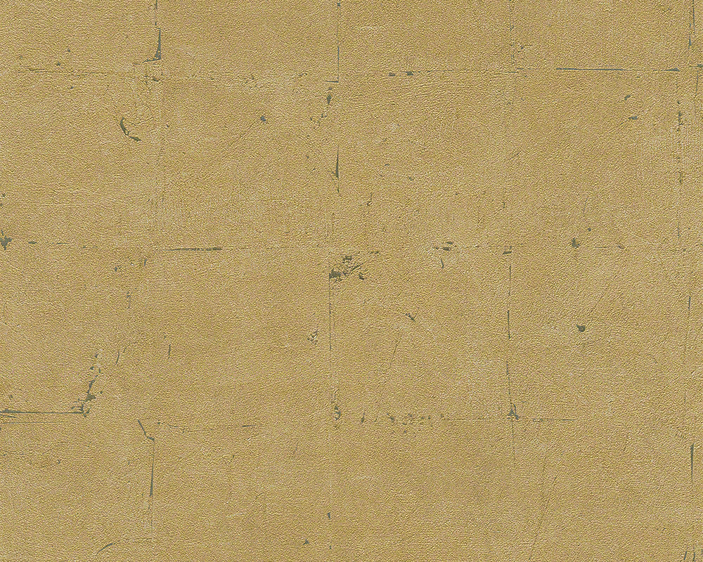 Sample Distressed Tiles Wallpaper in Neutrals and Gold design by BD Wall