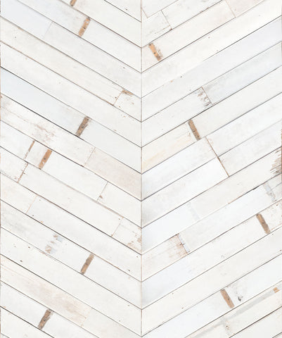 Distressed Timber Chevron Wallpaper from the Kemra Collection by Milton & King