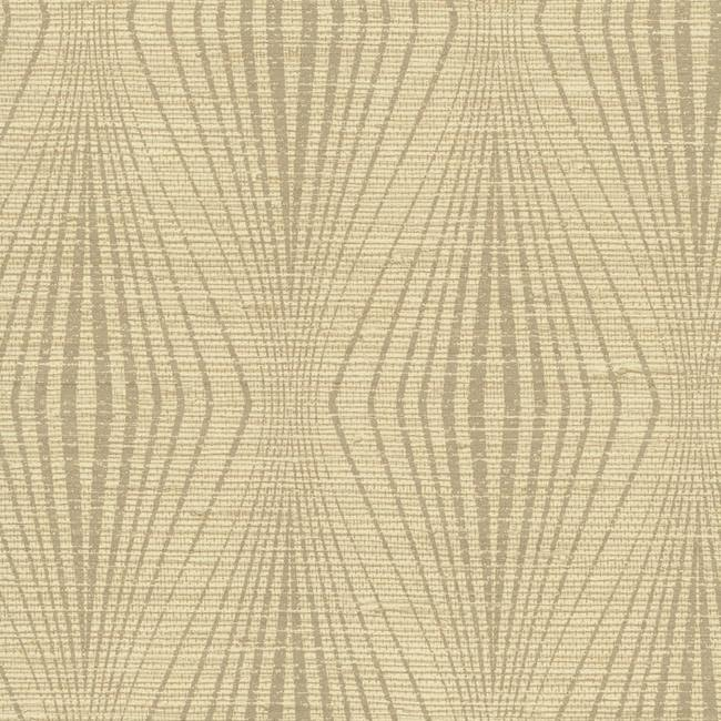 Sample Divine Wallpaper in Beige and Brown from the Terrain Collection by Candice Olson for York Wallcoverings