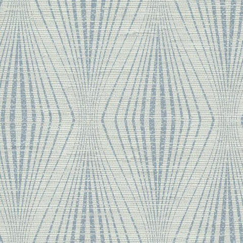 Divine Wallpaper in Blue and Ivory from the Terrain Collection by Candice Olson for York Wallcoverings