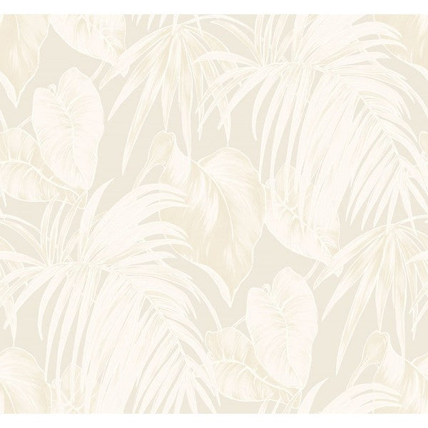 Sample Dominica Wallpaper in Neutrals and Metallic Gold from the Tortuga Collection by Seabrook Wallcoverings
