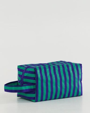 Dopp Kit in Striped Cobalt and Jade