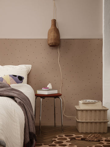 Dot Wallpaper in Dusty Rose by Ferm Living