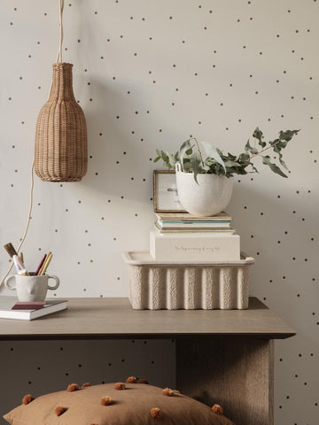 Dot Wallpaper in Off-White by Ferm Living