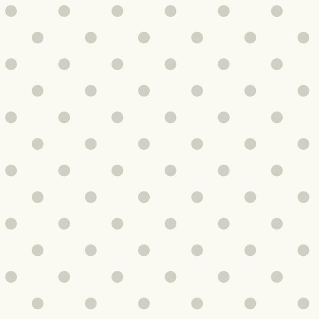 Dots On Dots Wallpaper in Grey and Ivory from the Magnolia Home Collection by Joanna Gaines