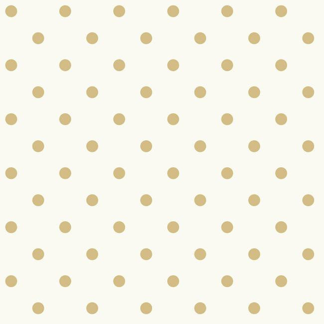 Sample Dots On Dots Wallpaper in Ochre and White from the Magnolia Home Collection by Joanna Gaines