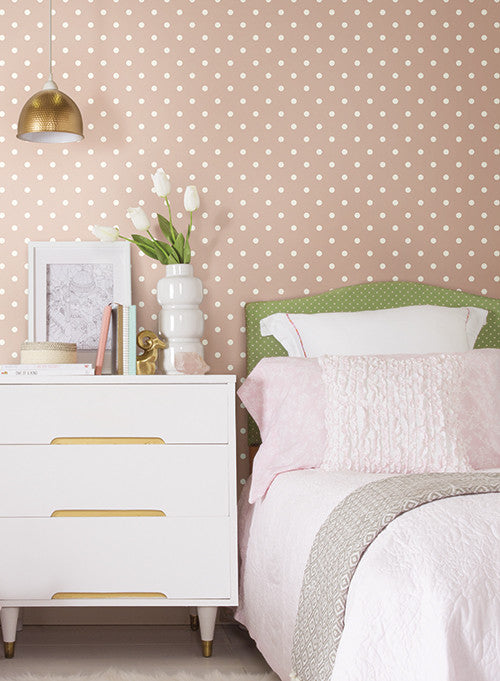 Dots on dots wallpaper in grey and white from the magnolia - Joanna gaines bedding collection ...