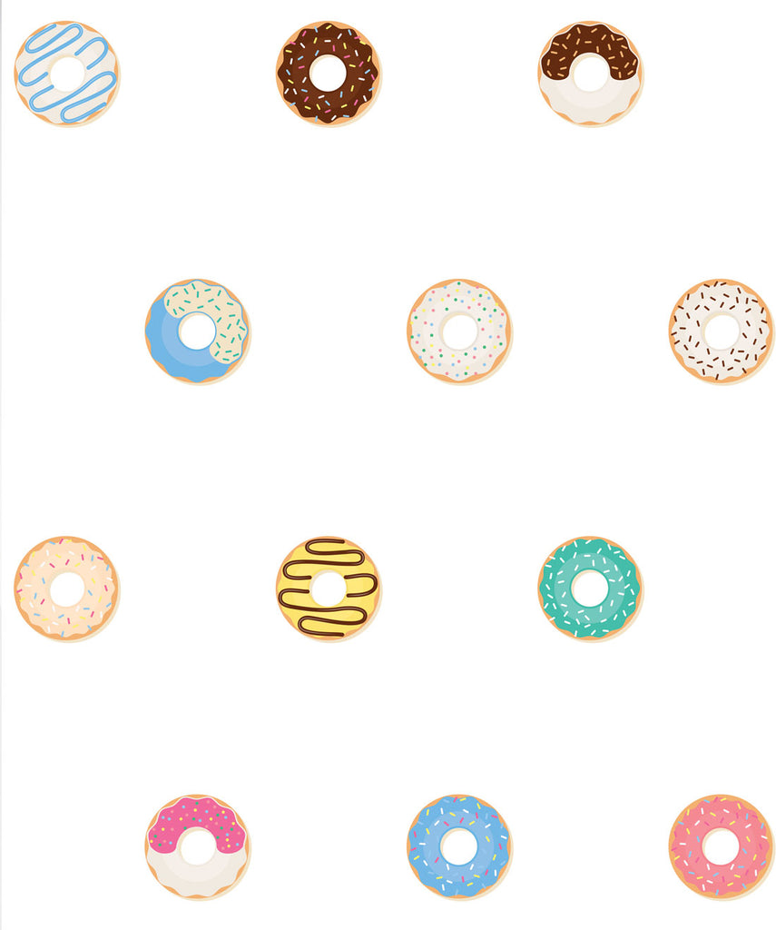 Sample Doughnuts Wallpaper from the Muffin & Mani Collection by Milton & King