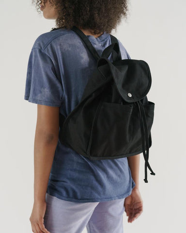 Drawstring Backpack in Black