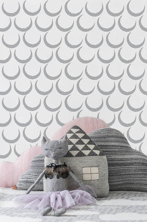 Dream Wallpaper in Silver by Sissy + Marley for Jill Malek