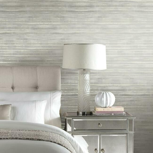 Dreamscapes Wallpaper in Grey from the Ronald Redding 24 Karat Collection by York Wallcoverings