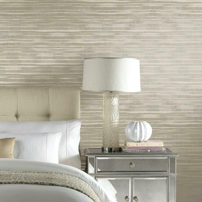 Dreamscapes Wallpaper in Taupe from the Ronald Redding 24 Karat Collection by York Wallcoverings