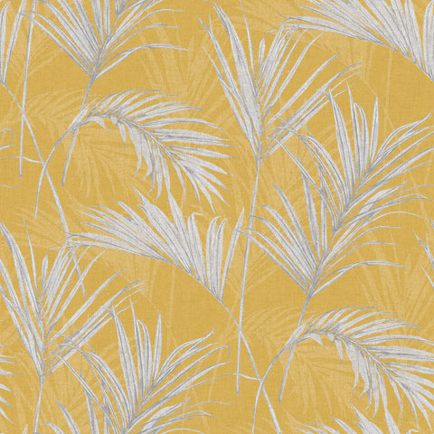 Dried Grass Wallpaper in Yellow by Walls Republic