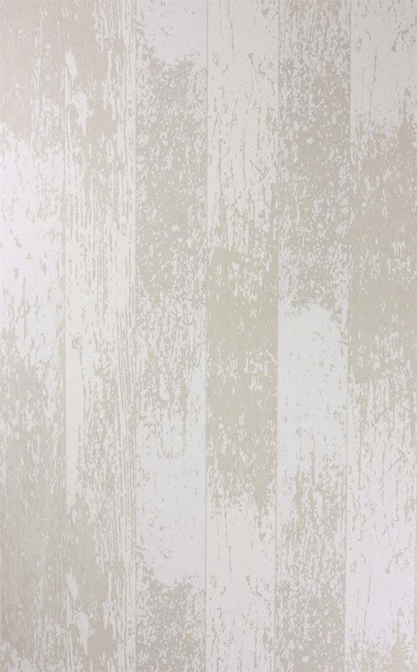 Driftwood Wallpaper in White/Gilver from the Enchanted Gardens Collection by Osborne & Little