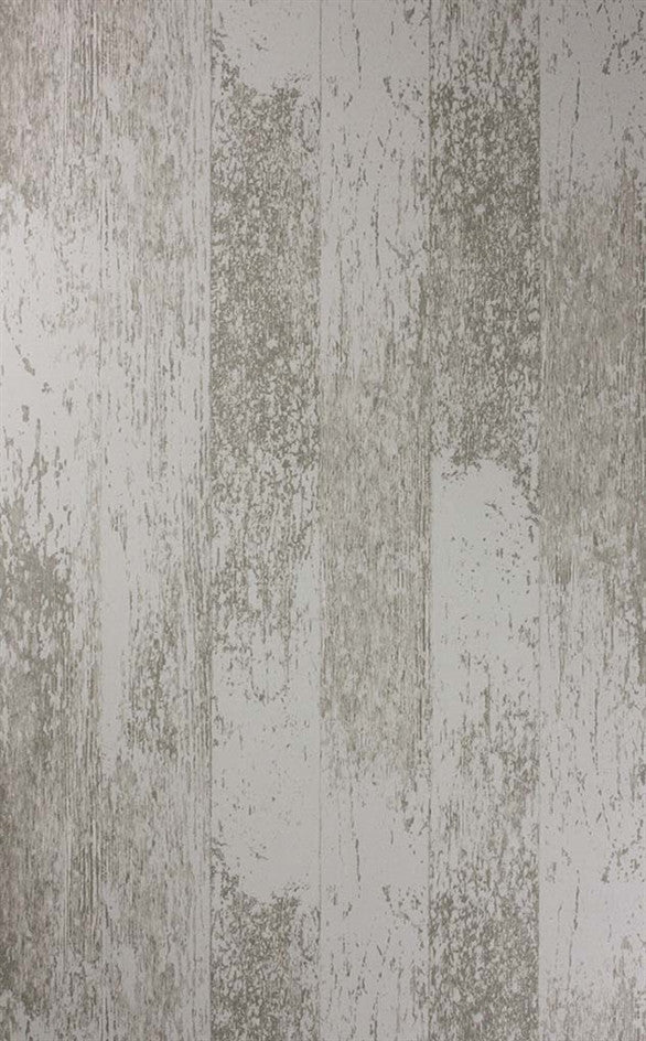 Driftwood Wallpaper in White/Stone from the Enchanted Gardens Collection by Osborne & Little