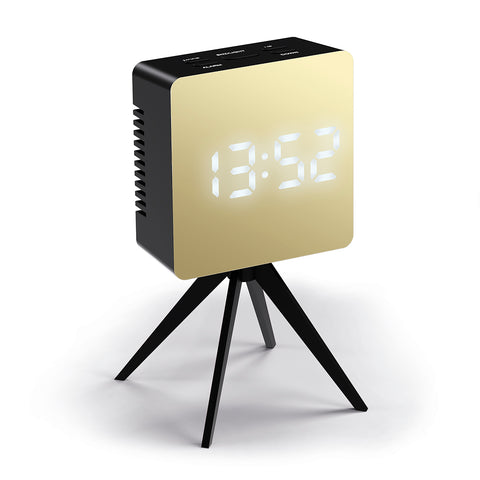 Droid Alarm Clock in Black and Gold