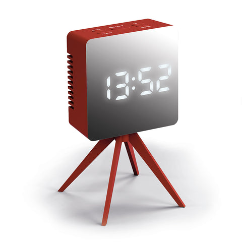 Droid Alarm Clock in Red and Silver