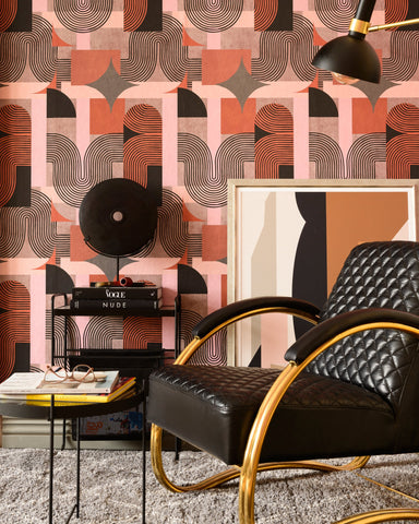 Dune Wallpaper in Brown from the Wallpaper Compendium Collection by Mind the Gap