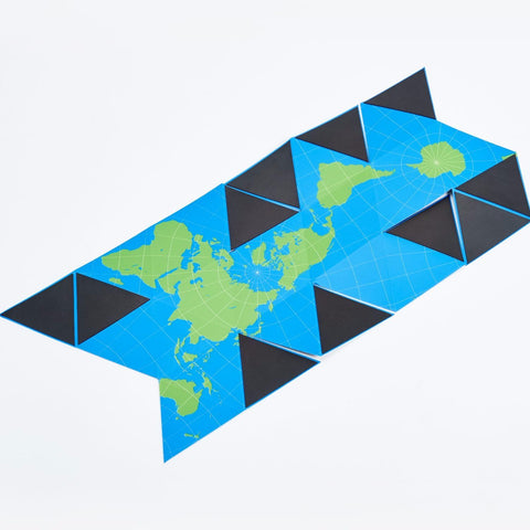 Dymaxion Folding Globe in Blue & Green design by Areaware