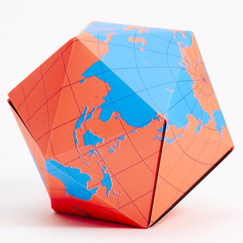 Dymaxion Folding Globe in Blue & Orange design by Areaware