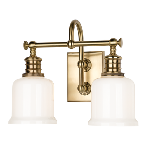 Keswick 2 Light Bath Bracket by Hudson Valley Lighting