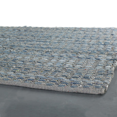 Easton Collection Hand-Woven Area Rug in Blue