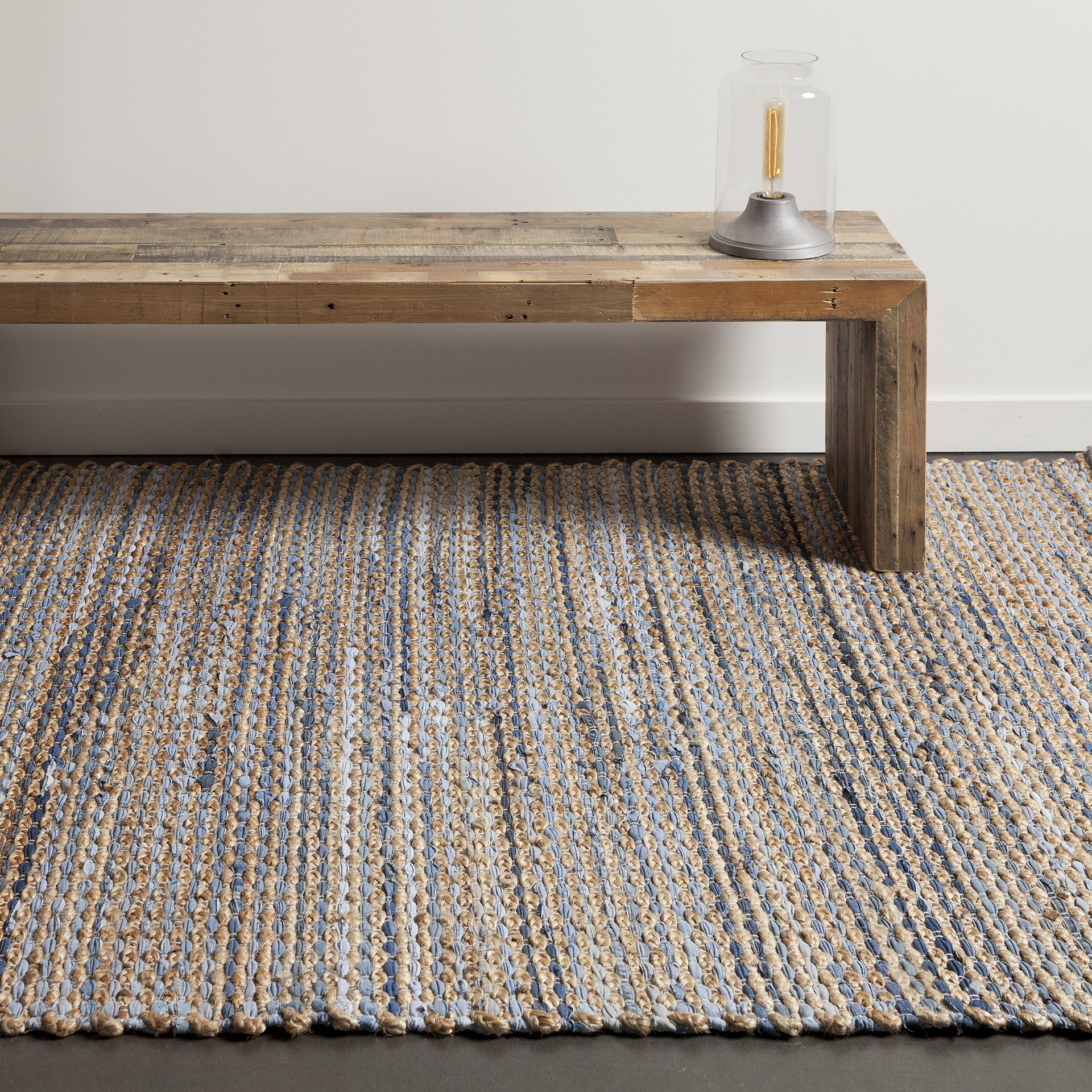 Easton Collection Hand Woven Area Rug In Blue Tan Grey Design By