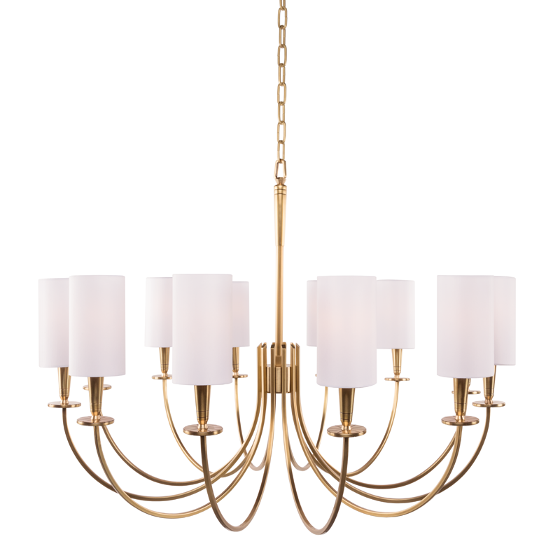 Mason 12 Light Chandelier by Hudson Valley Lighting
