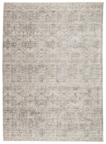 Candide Trellis Rug in Gray & Ivory by Jaipur Living