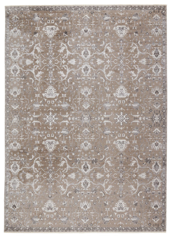 Fionn Oriental Rug in Gray & Taupe by Jaipur Living
