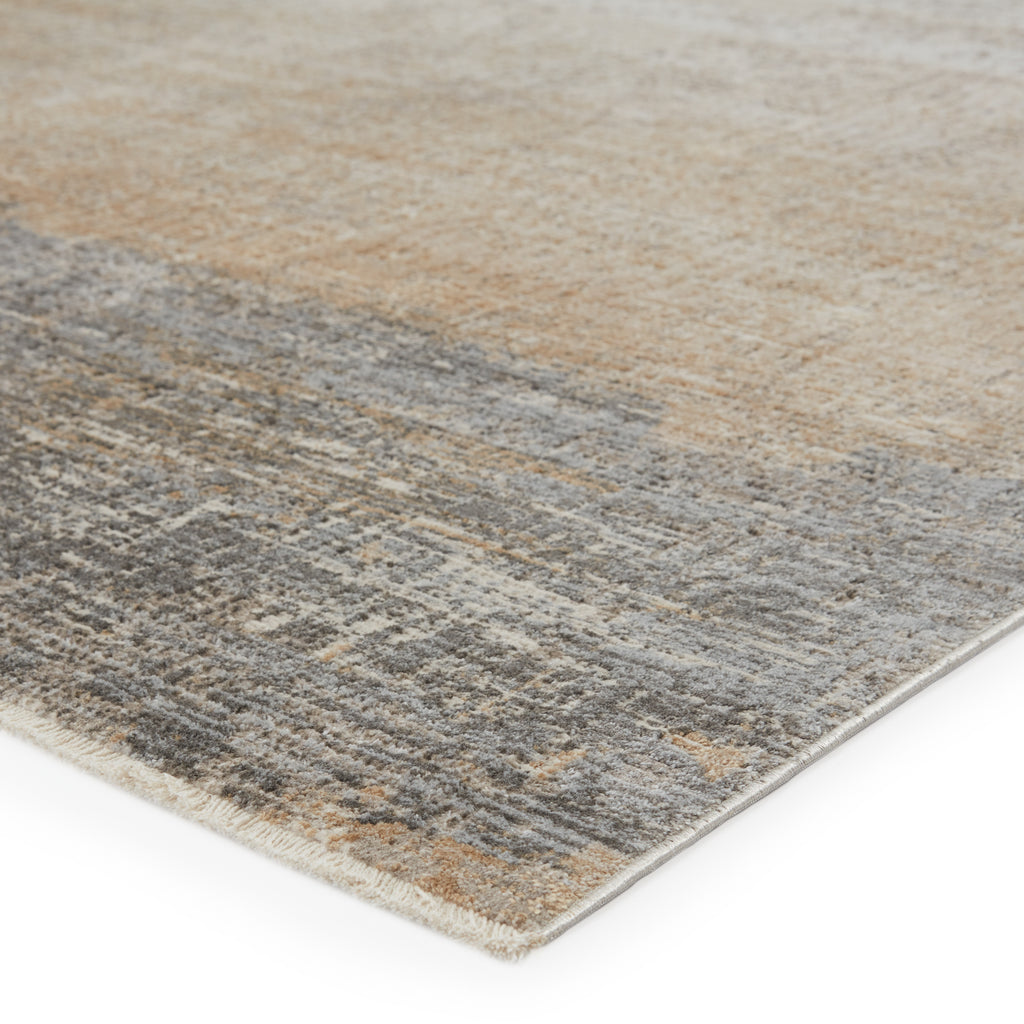 Akari Abstract Rug in Gray & Light Tan by Jaipur Living