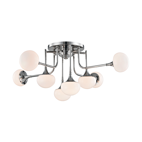 Fleming 8 Light Semi Flush by Hudson Valley Lighting