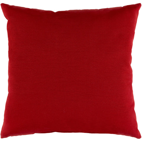 Essien Woven Pillow in Bright Red