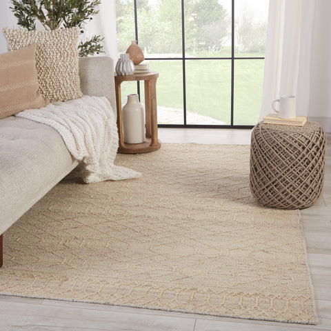 Celia Natural Geometric Cream & Grey Rug by Jaipur Living