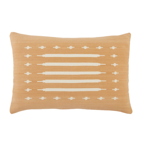 Ikenna Tribal Pillow in Light Tan by Jaipur Living