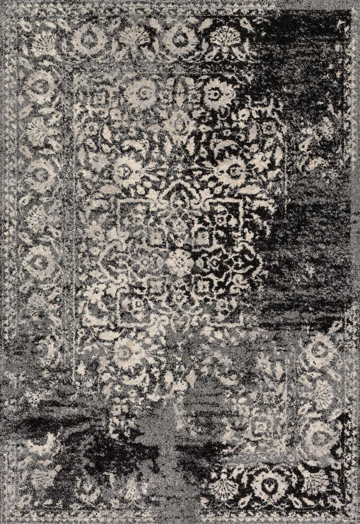 Emory Rug in Black & Ivory by Loloi