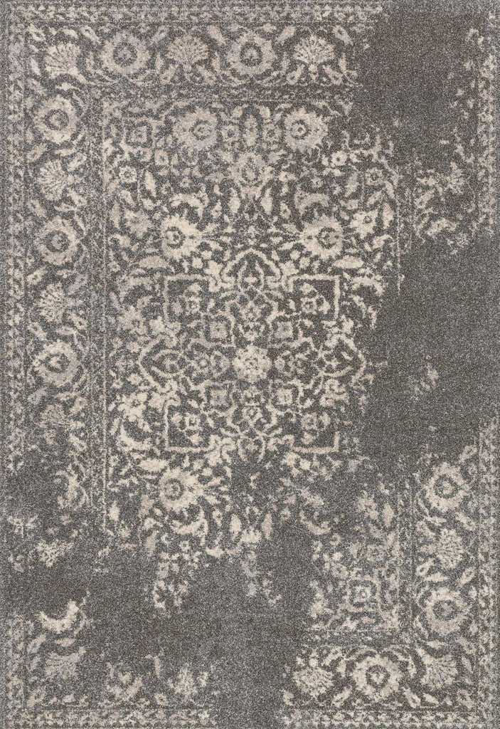 Emory Rug in Charcoal & Ivory by Loloi