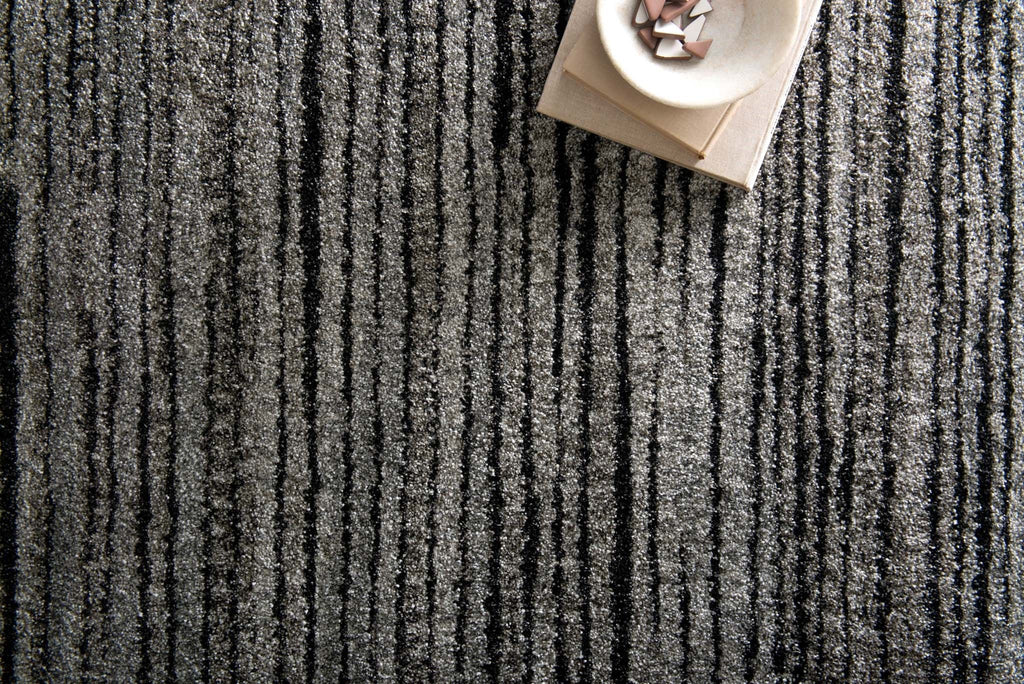 Emory Rug in Grey & Black by Loloi