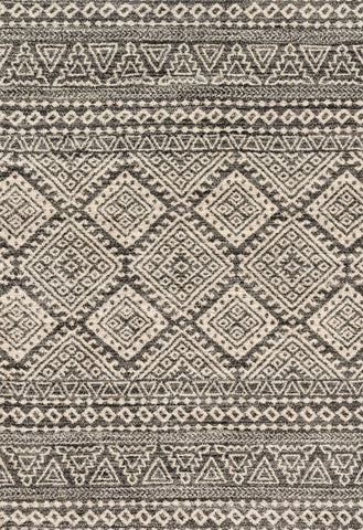 Emory Rug in Graphite & Ivory by Loloi